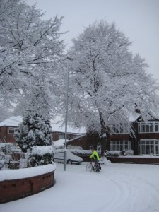 snow and cycle